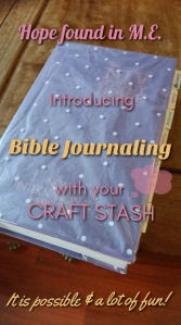 Bible Journaling with a craft stash