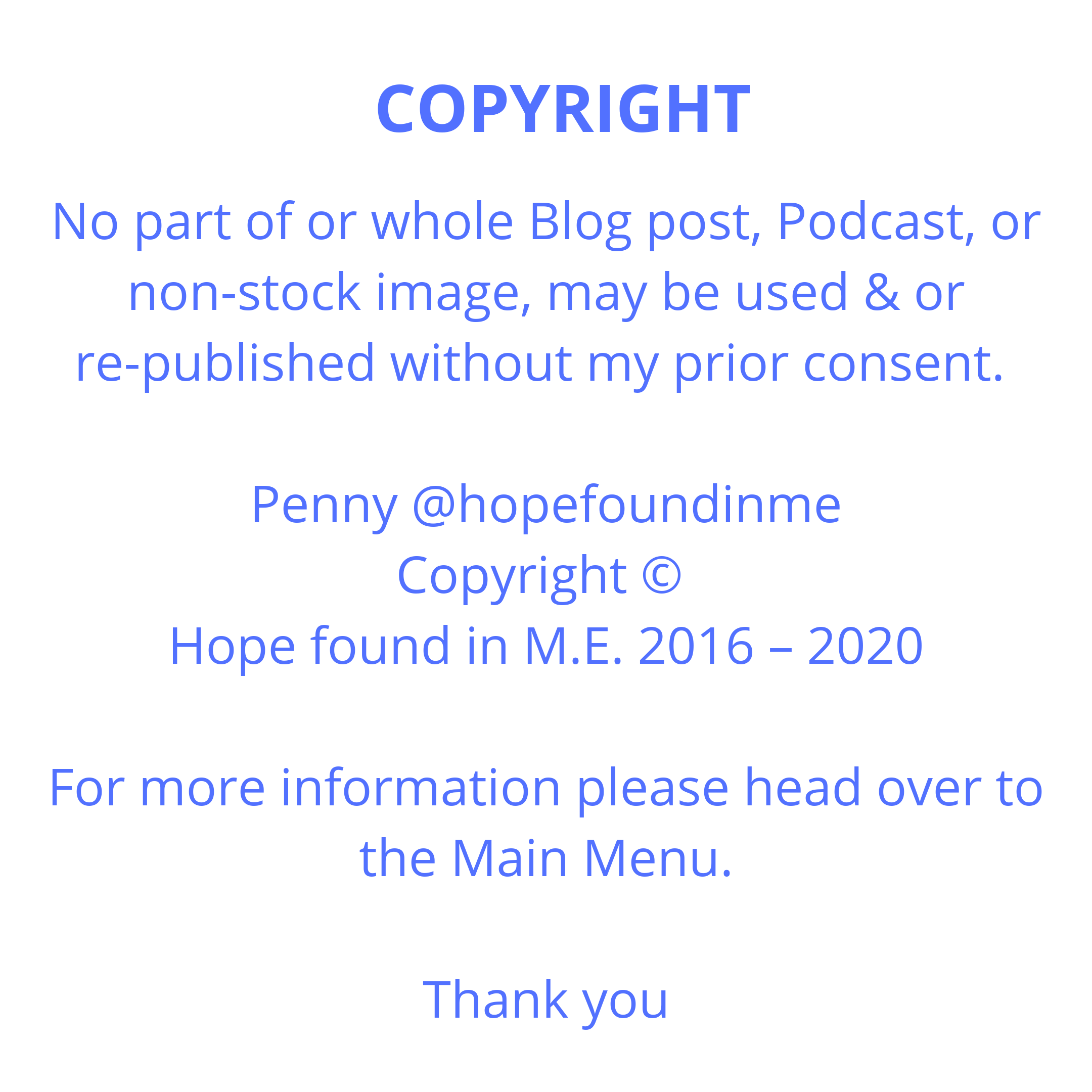Copyright Notice for this website