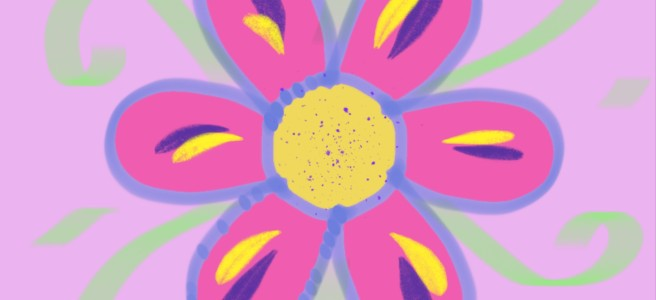 A flower doodle