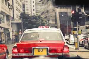 A Hong Kong taxi