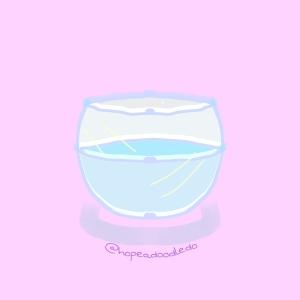 A glass bowl doodle