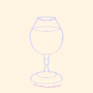 A wine glass sketch