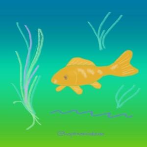 A goldfish doodle