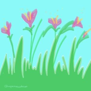 Flowers in bloom doodle