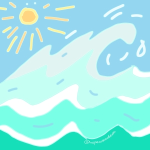 And ocean wave doodle