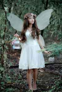A women dressed as a fairy
